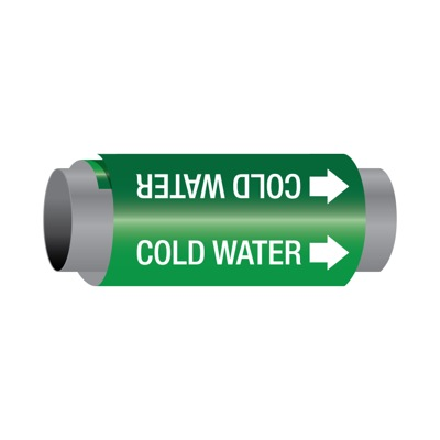 Ultra-Mark® Self-Adhesive High Performance Pipe Markers - Cold Water