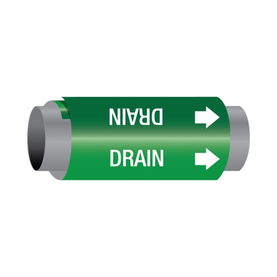Ultra-Mark® Self-Adhesive High Performance Pipe Markers - Drain
