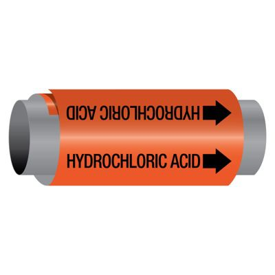 Ultra-Mark® Self-Adhesive High Performance Pipe Markers - Hydrochloric Acid