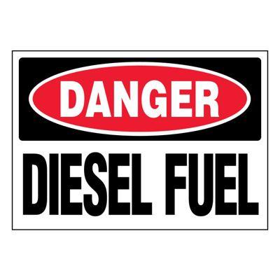 Ultra-Stick Signs - Danger Diesel Fuel