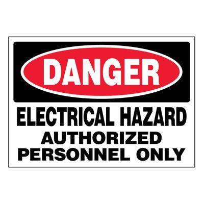 Ultra-Stick Signs - Danger Electrical Hazard