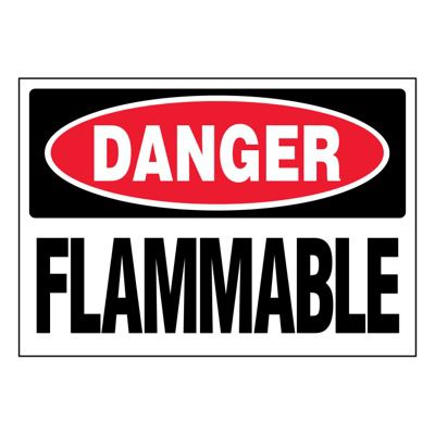 Ultra-Stick Signs - Danger Flammable