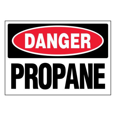 Ultra-Stick Signs - Danger Propane