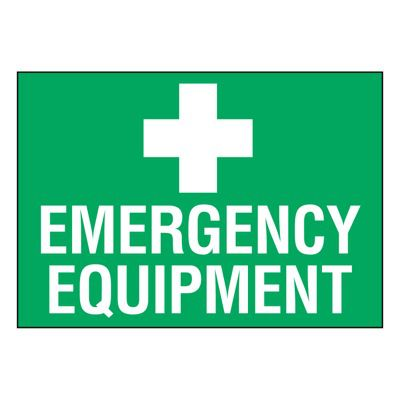 Ultra-Stick Signs - Emergency Equipment