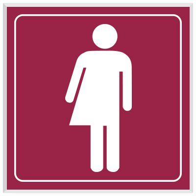 Unisex Symbol - Engraved Graphic Restroom Signs