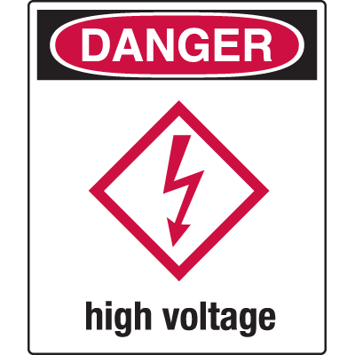 Universal Graphic Signs And Labels - Danger High Voltage