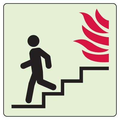 Use Stairs in Case of Fire (Down) Sign