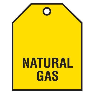 Natural Gas Vinyl Valve Indicator Tag