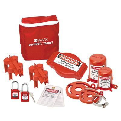 Brady Valve Lockout Pouch Kit With Brady Safety Padlocks & Tags - Part Number - 99680 - 1/Each