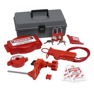 Brady Valve Lockout Toolbox Kit With Brady Safety Padlocks & Tags - Part Number - 99321 - 1/Each