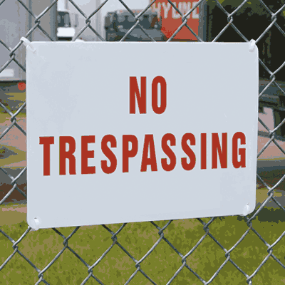 Vandal Resistant Signs- No Trespassing