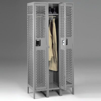 Single-Tier, Three-Wide Lockers