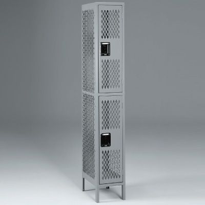Double-Tier, One-Wide Lockers