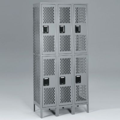 Double-Tier, Three-Wide Lockers