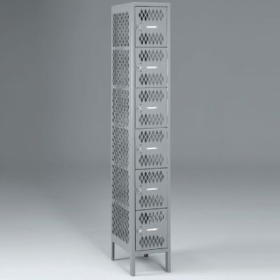 Six-Tier, One-Wide Lockers