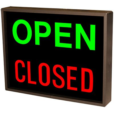 Vertical Open - Closed Backlit LED Sign