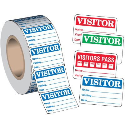 Visitor Badges On-A-Roll