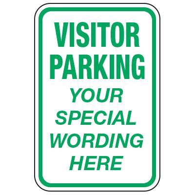 Visitor Parking - Custom School Traffic & Parking Signs
