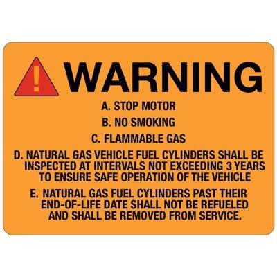 W-1 ANSI Warning Sign A-E - Vinyl