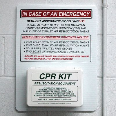 Wall-Mount CPR Station and Refill Kit