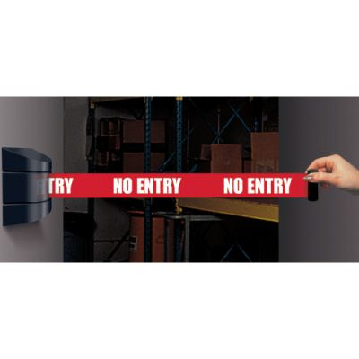 Wall Mount Security Tensabarriers- No Entry 897-15-S-33-NO-RBX-C