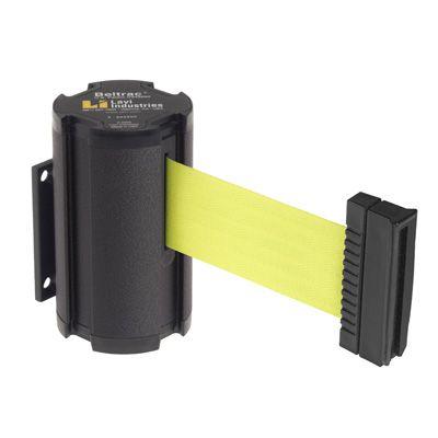 Beltrac® Wall-Mount Retractable Belts - Fluorescent Yellow Belt