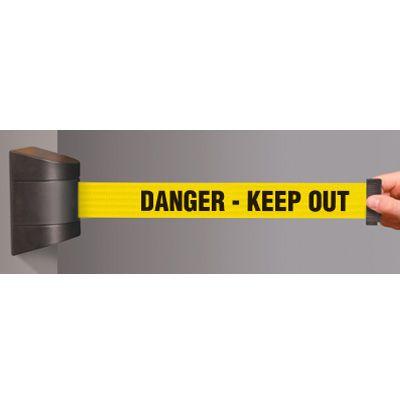 Danger Keep Out Wallmounted Tensabarrier 897-15-S-33-NO-YDX-C