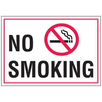 Warehouse Floor Markers- No Smoking