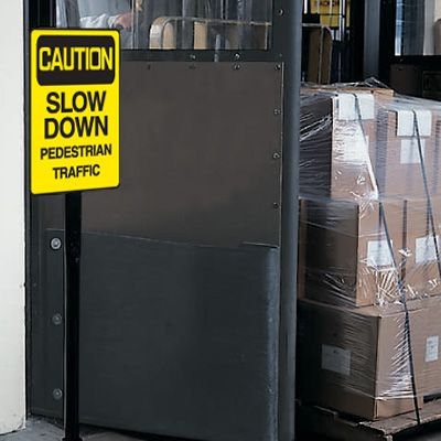 Caution Slow Down Warehouse Traffic Signs