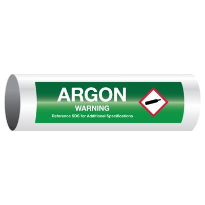 Warning Argon - GHS Pipe Markers