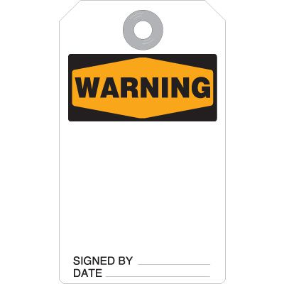 Warning Accident Prevention Tags