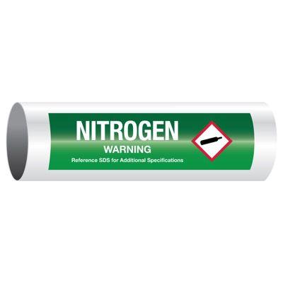 Warning Nitrogen - GHS Pipe Markers