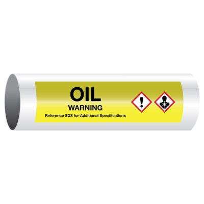 Warning Oil - GHS Pipe Markers