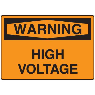 OSHA Warning Signs - High Voltage