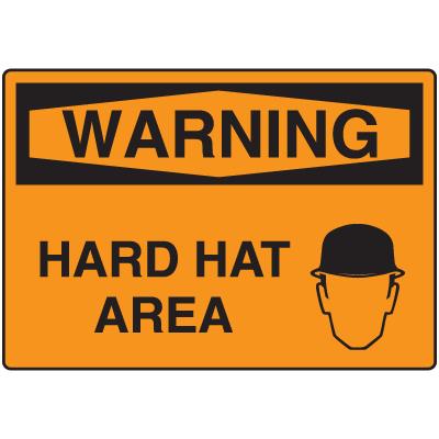OSHA Warning Signs - Warning Hard Hat Area