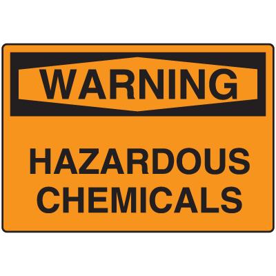OSHA Warning Signs - Warning Hazardous Chemicals