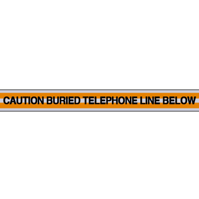 Telephone Line Underground Warning Tape