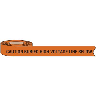 High Voltage Warning Tape