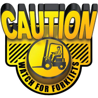 3D Floor Marker - Watch For Forklifts