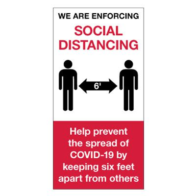 Social Distance Giant Wall Signs - Enforcing Social Distancing