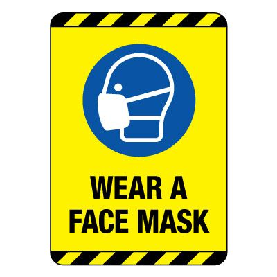 Wear A Face Mask Construction Site Sign