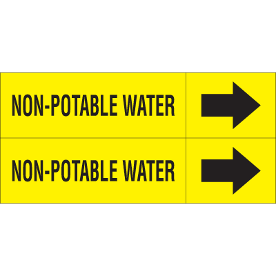Weather-Code™ Self-Adhesive Outdoor Pipe Markers - Non-Potable Water