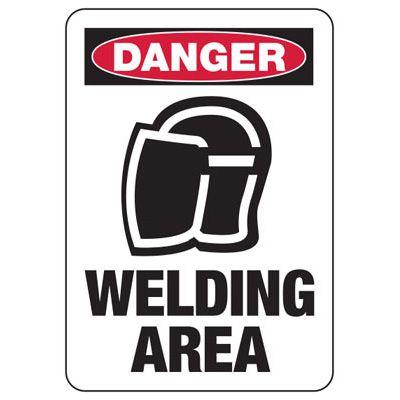 Danger Welding Area (Graphic) - Welding Signs