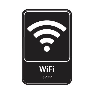 WiFi Symbol - Graphic ADA Braille Tactile Signs