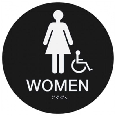 Women (Accessibility) - California Code Economy Restroom Signs