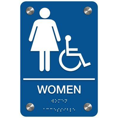 Women (Accessibility) - Premium ADA Restroom Signs