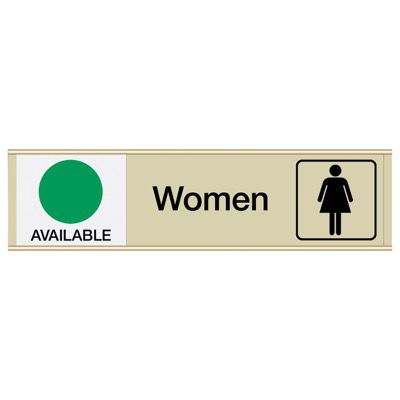 Women Available/In Use - Engraved Restroom Sliders