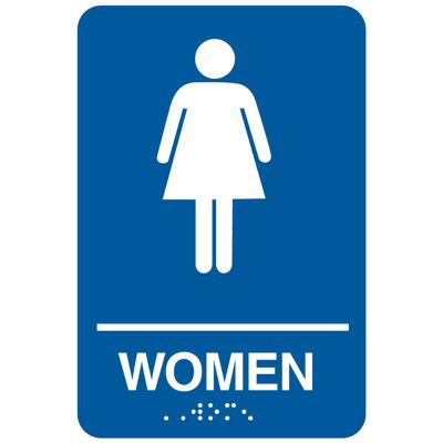 Women - California Code Economy Restroom Signs