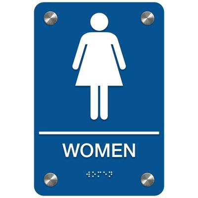 Women - Premium ADA Restroom Signs