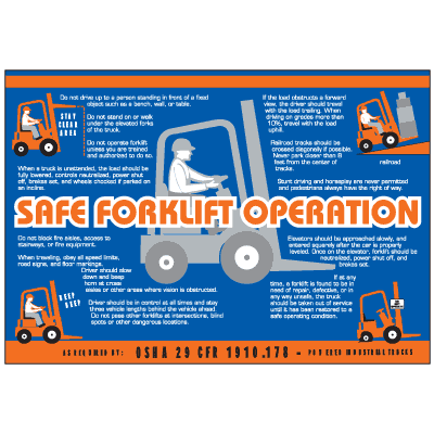 Forklift Operation Workplace Safety Wallchart